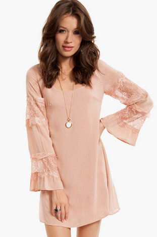 Belle Lace  Dress  :  lace chiffon dress