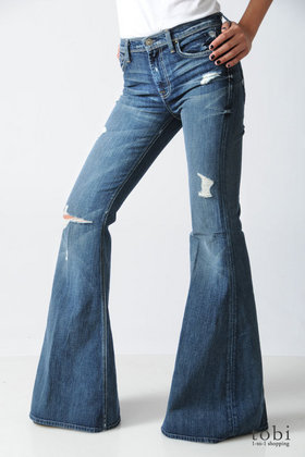7 for all mankind Bell Bottom Jeans in Vintage California  :  blue denim designer jean
