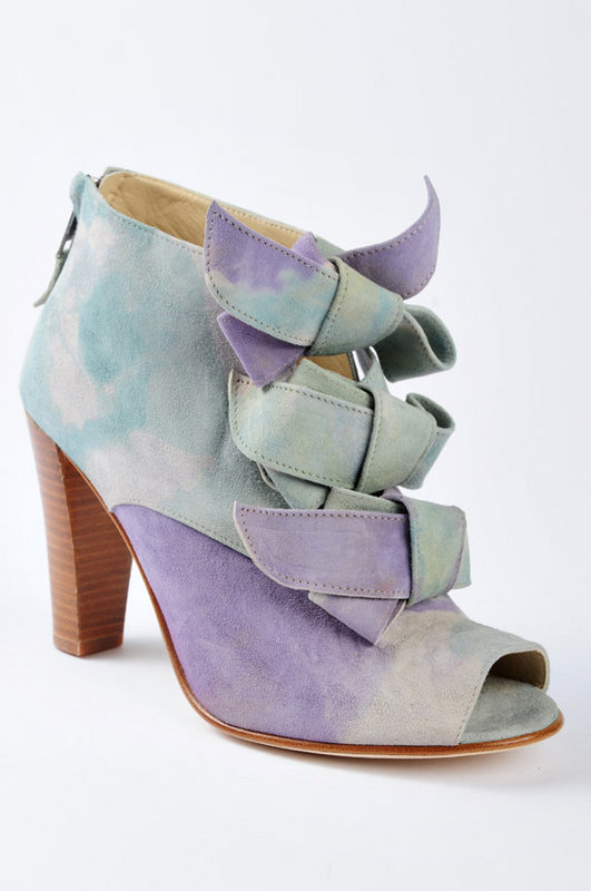 Opening Ceremony Watercolor Suede Peep-Toe Bootie at Tobi