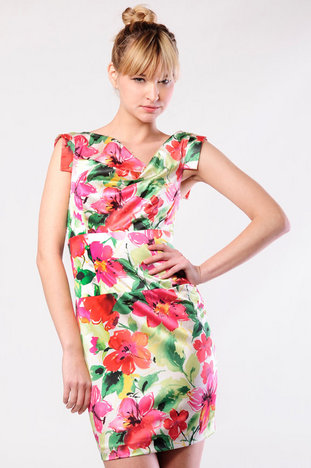 Black Halo Jackie Stretch Sateen Floral Mini 35