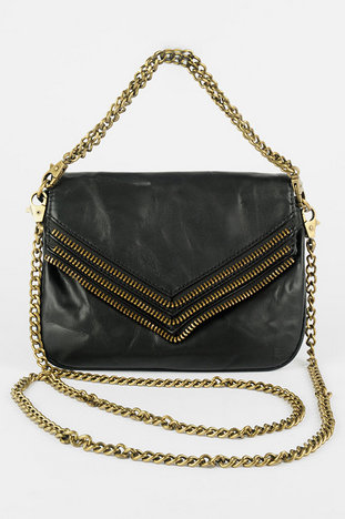 Matt and Nat Hendrix Zipper Trim Chain Strap Bag :: tobi
