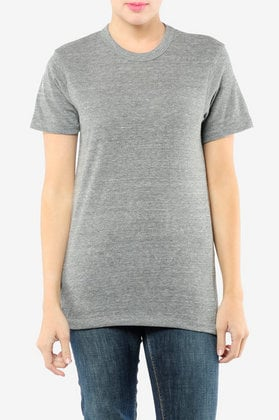 Alternative Apparel Eco Heather Crew T-shirt in Eco Black at Tobi :  short sleeves polyester tshirt clothing