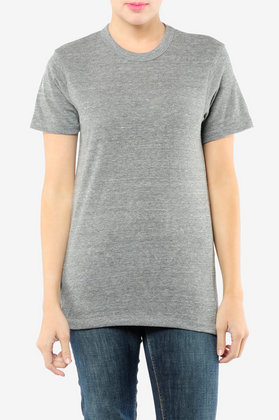 Alternative Apparel Eco Heather Crew T-shirt in Eco Black at Tobi