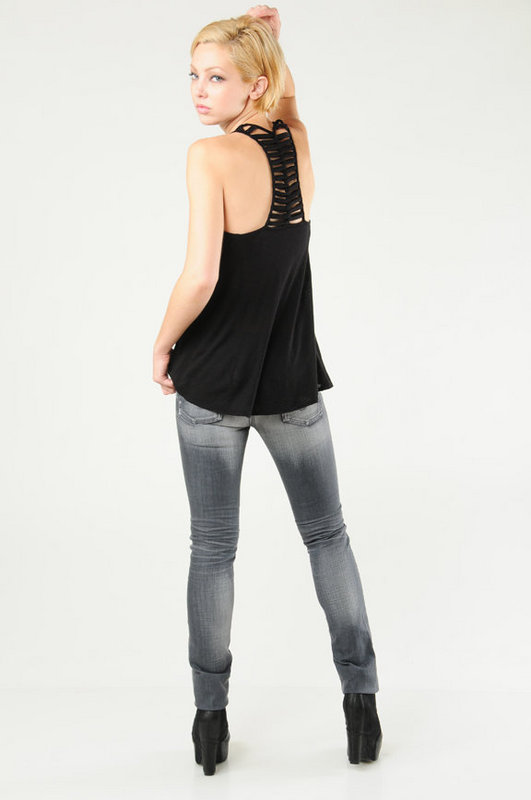 Ella Moss Cutout Racerback Tank Top at Tobi from tobi.com