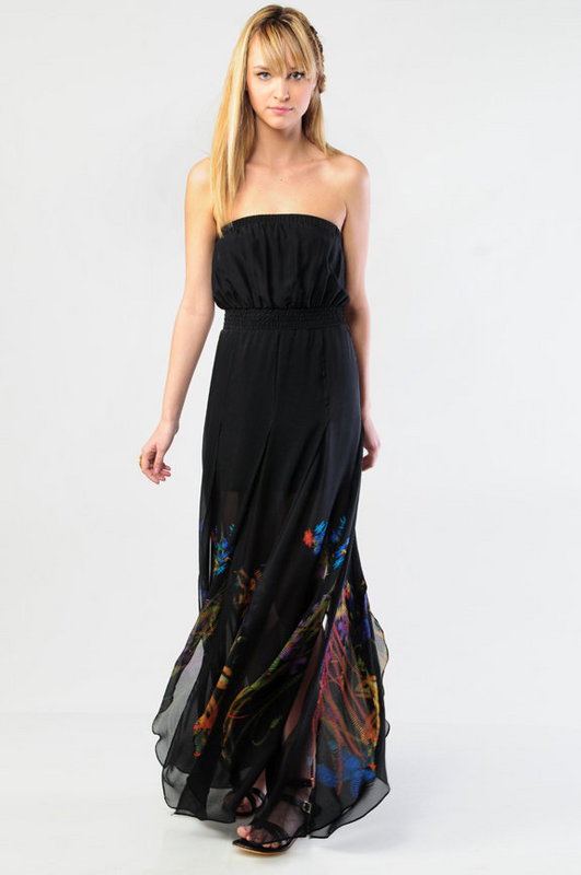 Twelfth Street by Cynthia Vincent Silk Strapless Petal Dress at Tobi