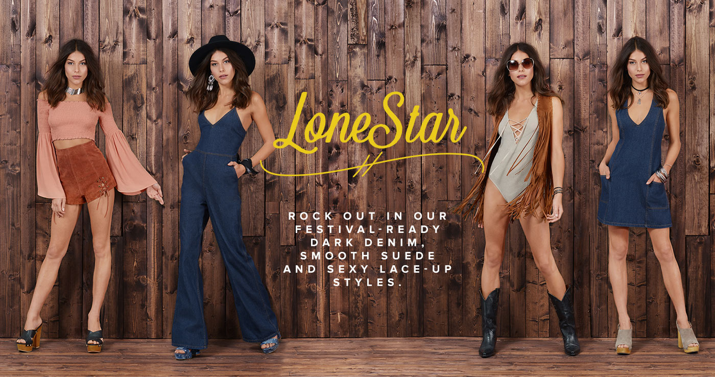 Lone Star | Festival Outfits, Denim Rompers, Bodysuits | Tobi